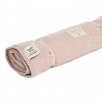 Matelas à langer transportable Nomad - White Bubble Misty Pink