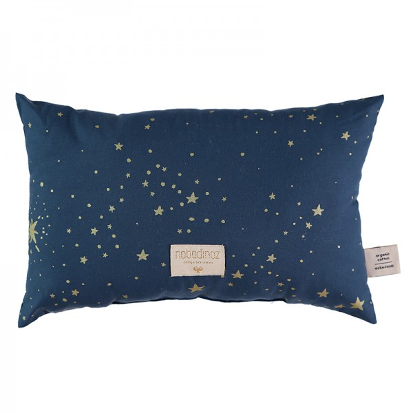 Coussin Laurel Nobodinoz - Gold Stella Night Blue
