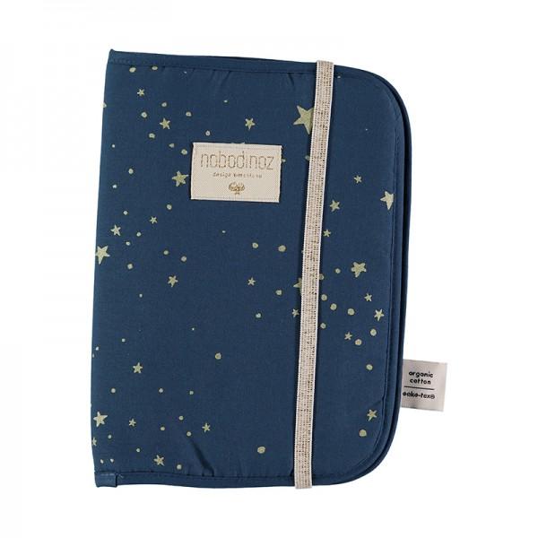 Protège carnet de santé Poéma - Gold Stella Night Blue