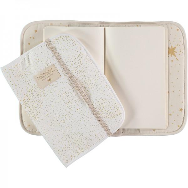 Protège carnet de santé Poéma - Gold Bubble White