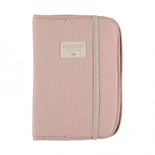 Protège carnet de santé Poéma nid d'abeille - Misty pink
