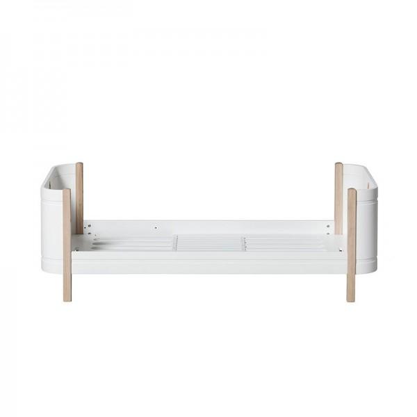 Lit évolutif Mini + - blanc et chêne
