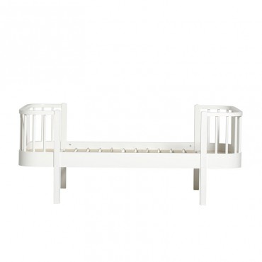 Lit Wood junior 90 x160 - Blanc