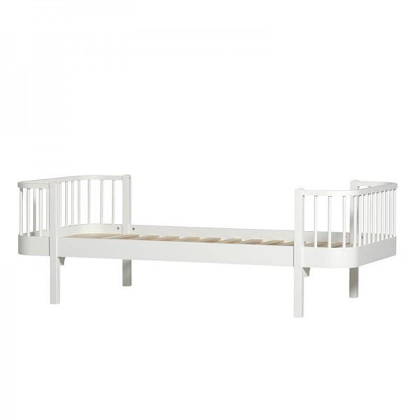 Lit Wood 90 x 200 - Blanc