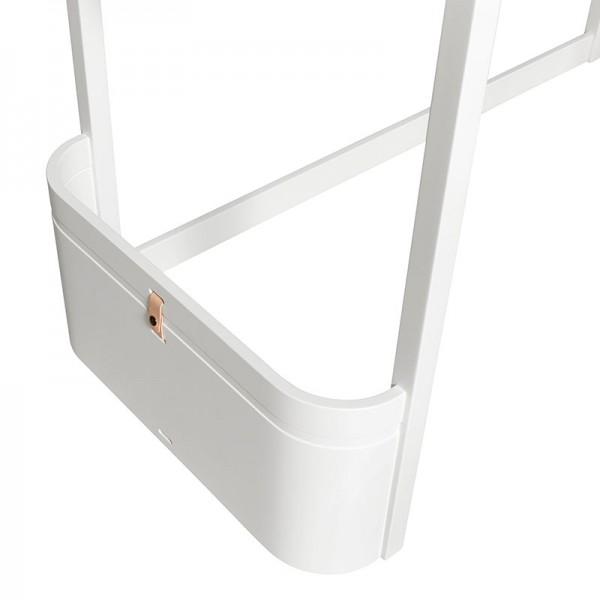 Lit mezzanine Mini + Wood - Blanc