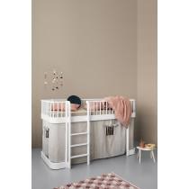 Lit mezzanine mi-haut Wood 90 x 200 - Blanc