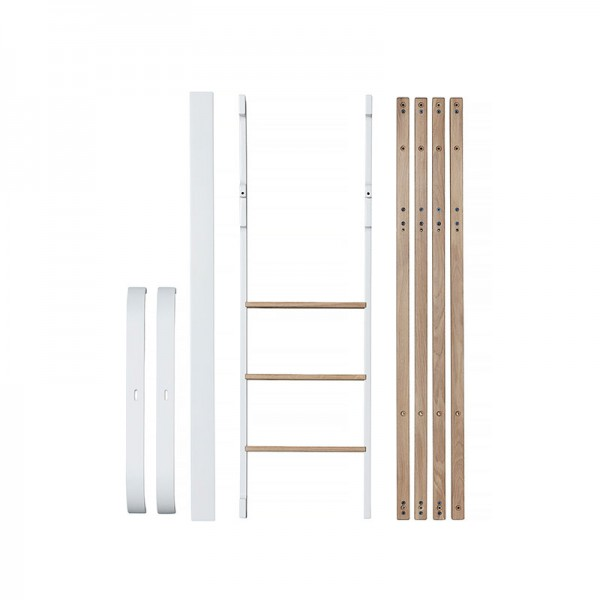 Kit de conversion lit mezzanine Mini + Wood - Blanc et chêne