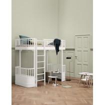Lit mezzanine haut Wood 90 x 200 - Blanc