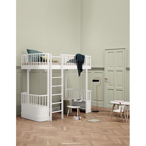 Lit mezzanine Wood 90 x 200 - Blanc