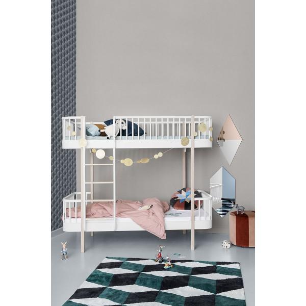 Lit superposé Wood 90 x 200 - Blanc