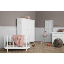 Lit bébé évolutif Wood 70x140 cm - Blanc