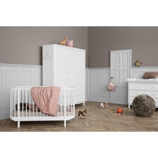 Lit bébé évolutif Wood Cot 70x140 cm - Blanc