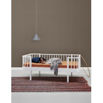 Lit banquette Wood junior 90 x160 - Blanc