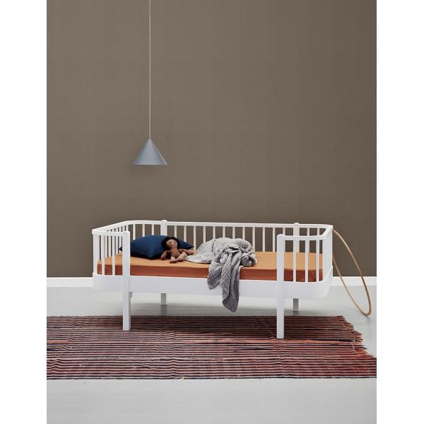 Lit Banquette Wood junior 90 x160 - Blanc