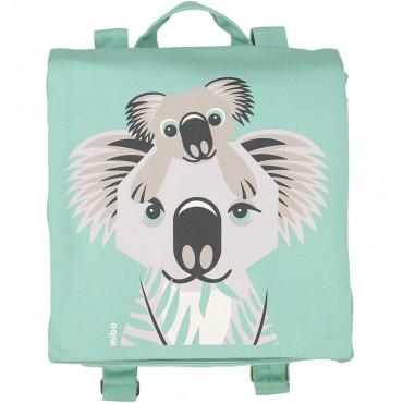 Petit cartable en coton bio - Koala