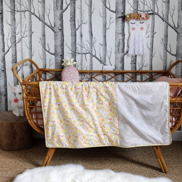 Couverture bébé en Liberty - Suzie