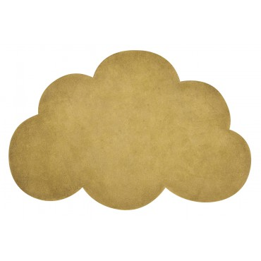 Tapis tufté nuage - Moutarde