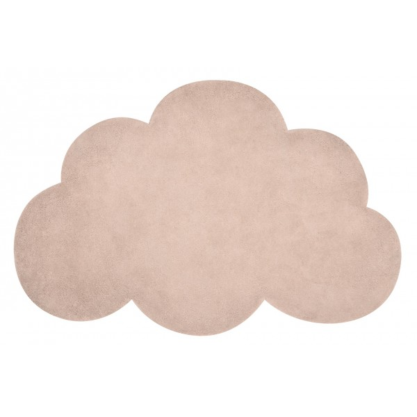 Tapis tufté nuage - Abricot