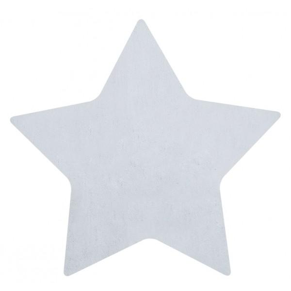 Tapis tufté étoile - Bleu clair
