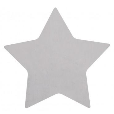 Tapis tufté étoile - Gris clair
