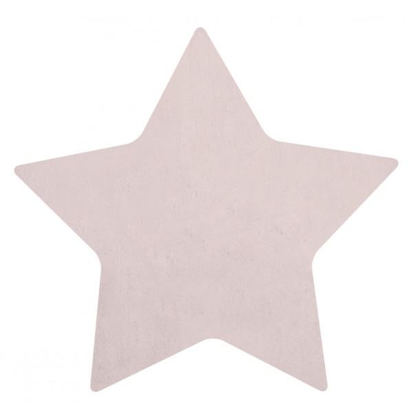 Tapis tufté étoile - Rose clair