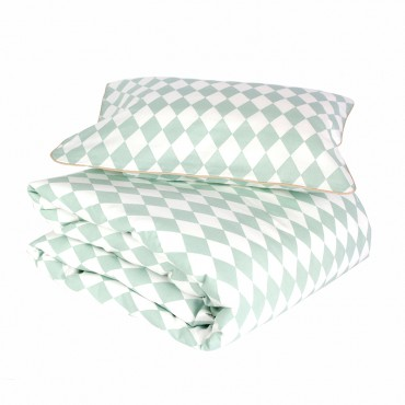 Parure de lit bébé Toronto - Green Diamonds