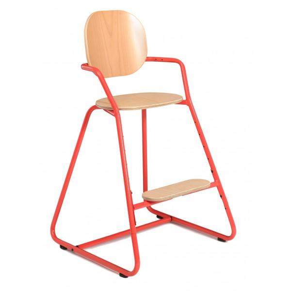 Chaise haute évolutive TIBU - Rouge