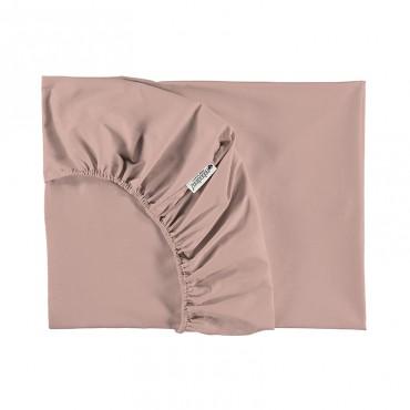 Drap housse Tibet  90 x 200 cm - Misty Pink