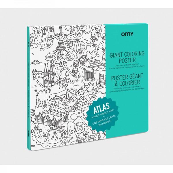 Poster coloriage géant - Atlas