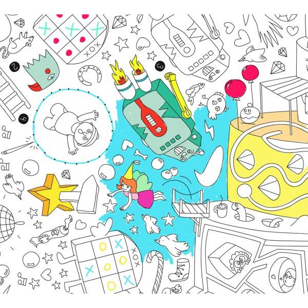 Poster coloriage géant - Games