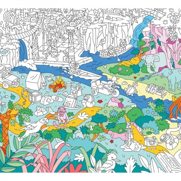 Poster coloriage géant - Jungle