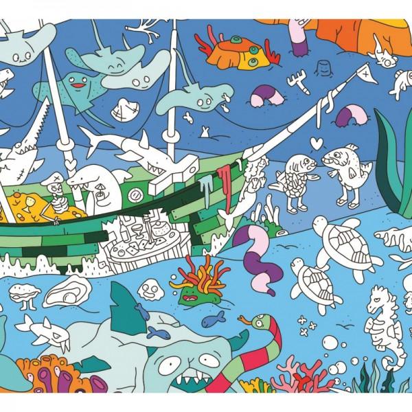 Poster coloriage géant - Océan