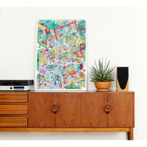 Poster coloriage géant - Home