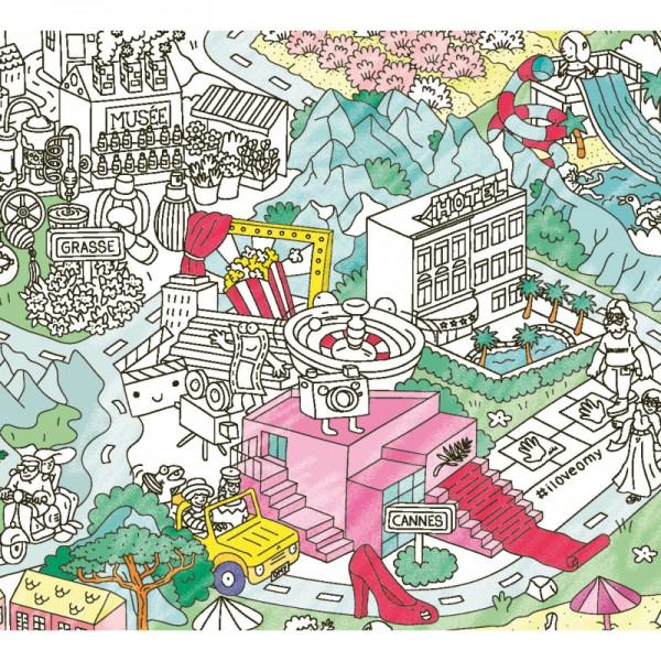 Poster coloriage géant - Côte d'Azur