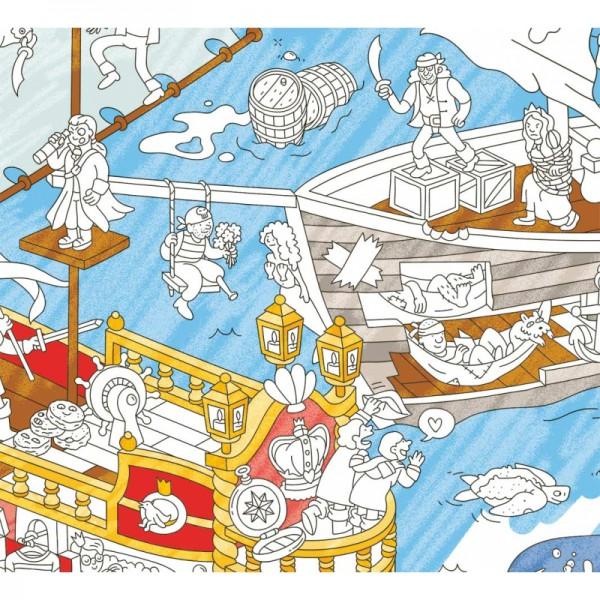 Poster coloriage géant - Pirates