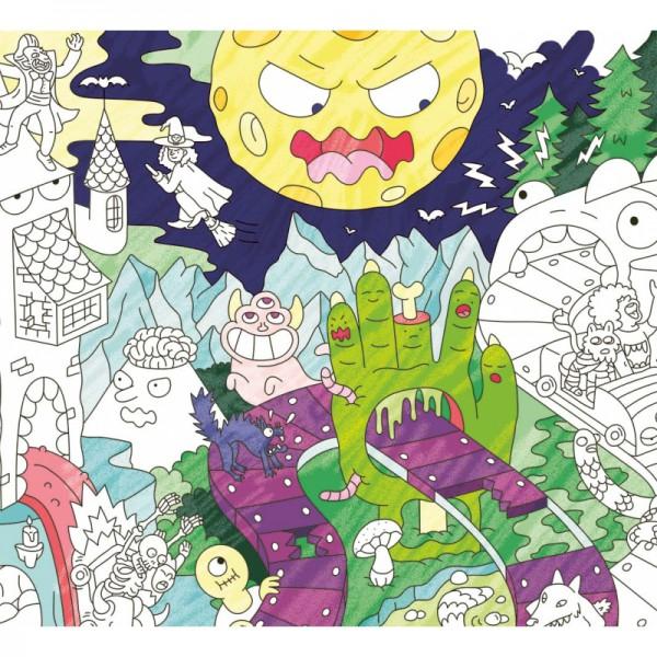 Poster coloriage géant - Zombies