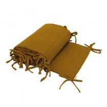 Tour de lit en lange de coton bio - Moutarde