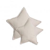 Coussin coton bio étoile - Poudre