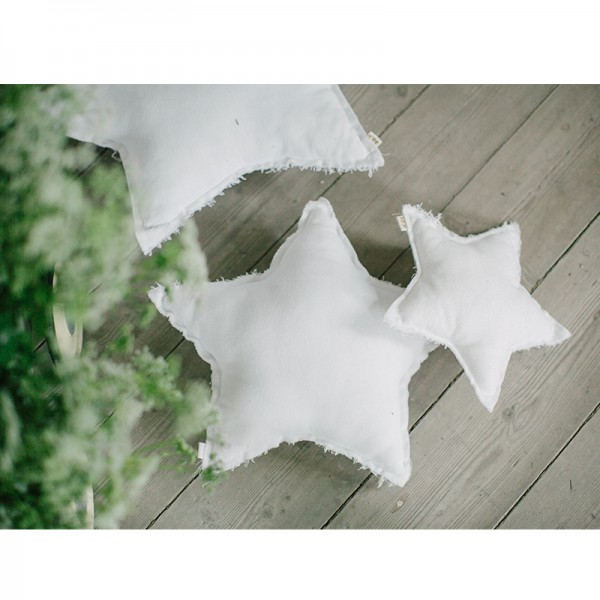 Coussin coton étoile - Poudre