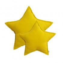 Coussin coton étoile - Jaune