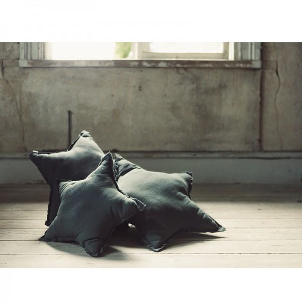 Coussin coton étoile - Gris ciment