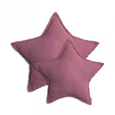 Coussin coton étoile - Rose
