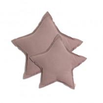 Coussin coton bio étoile - Vieux rose