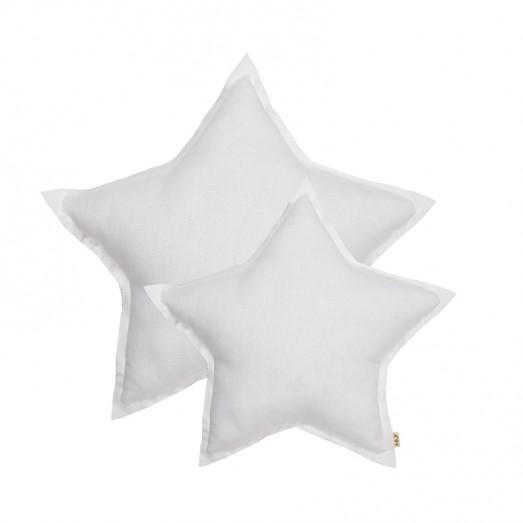 Coussin coton étoile - Blanc