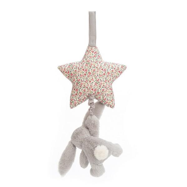 Boite à musique étoile lapin - Bashful blossom gris