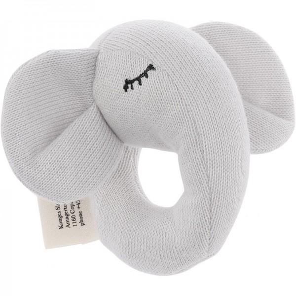 Hochet d'activité en coton bio - Eléphant