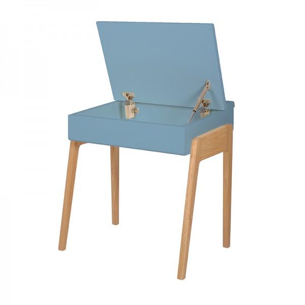 Bureau enfant My Little Pupitre, bleu et chêne blanchi