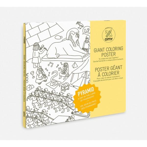 Poster coloriage géant - Pyramides