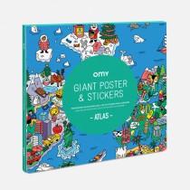 Poster géant et stickers - Atlas