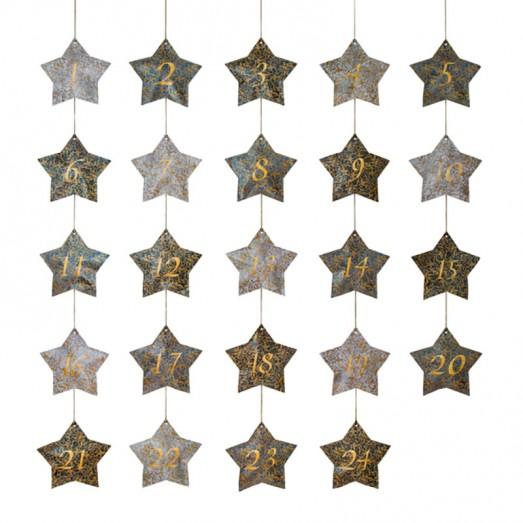 Calendrier de l'avent Bohemian stars - Bleu